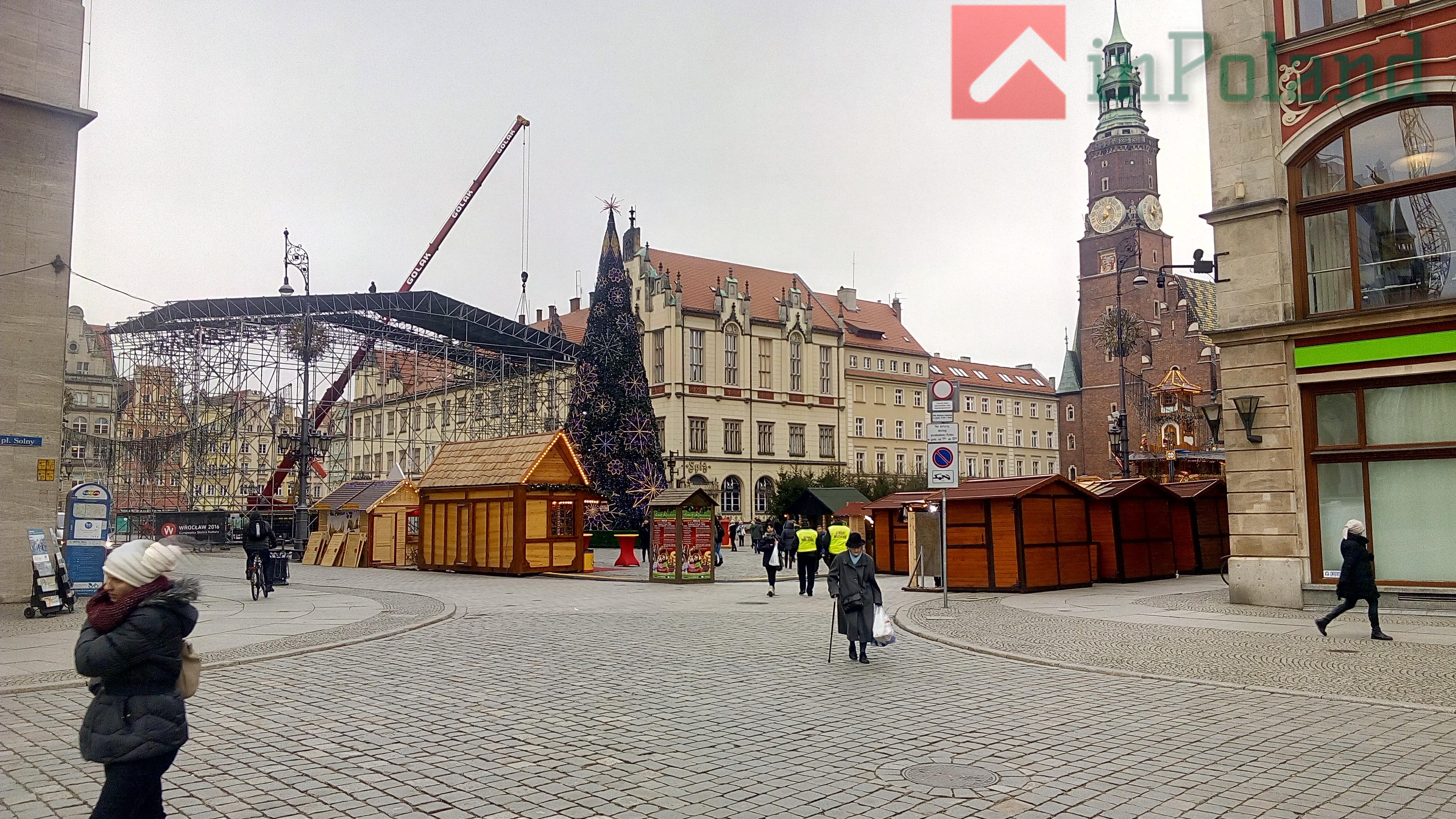 Во Вроцлаве демонтируют праздничные декорации