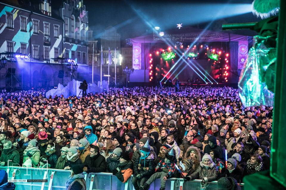 Вроцлав встретил Новый год грандиозным концертом (ФОТО)