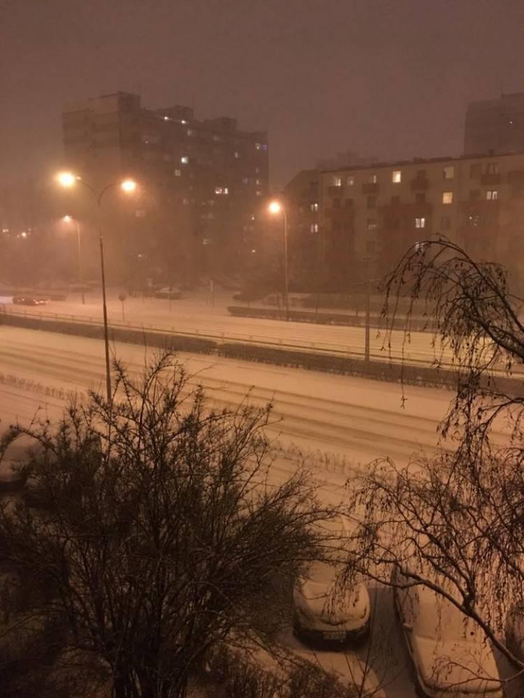 Вроцлав и Нижнюю Силезию засыпает снегом