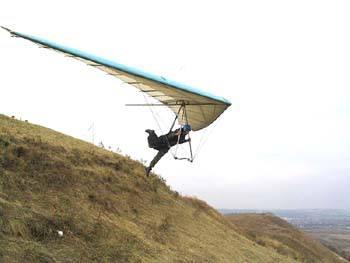 В Нижней Силезии при посадке упал дельтапланерист