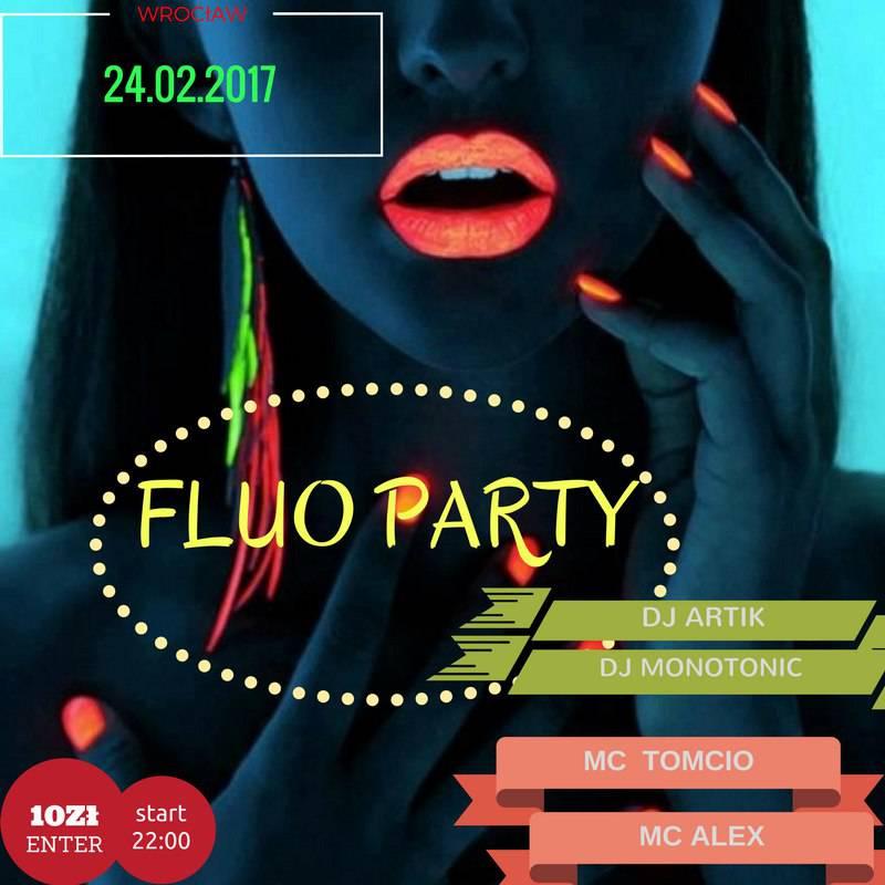 FLUO PARTY — неоновая вечеринка в самом центре Вроцлава