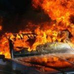 Во Вроцлаве загорелся автомобиль