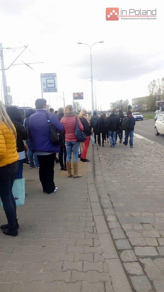 Во Вроцлаве заблокированы трамвайные линии