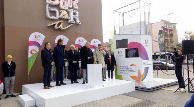 Во Вроцлаве запустили часы обратного отсчёта до Мировых игр 2017 (+ФОТО)