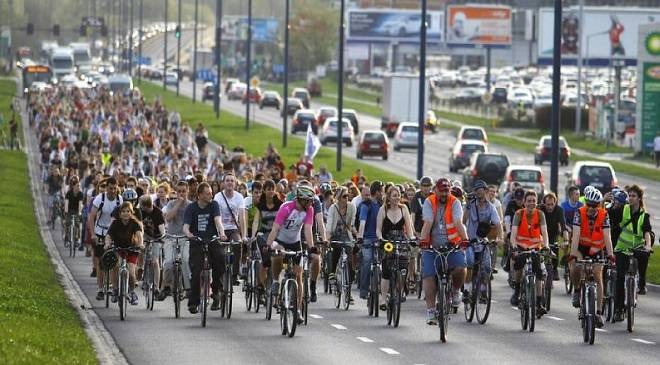 Будьте обережні — у Вроцлаві відбудеться проїзд велосипедистів