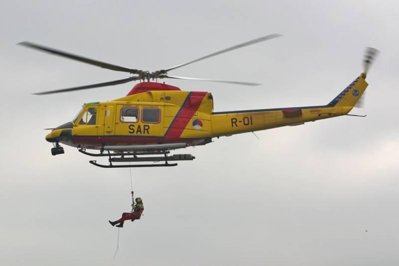 Вертолеты на месте аварии возле Вроцлава