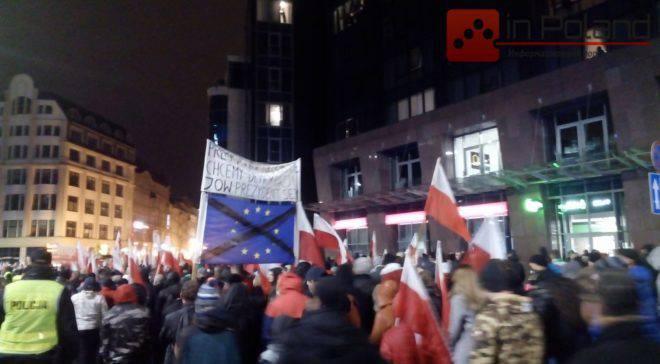 Марш националистов во Вроцлаве: В центре произошла небольшая потасовка (ФОТОГАЛЕРЕЯ)