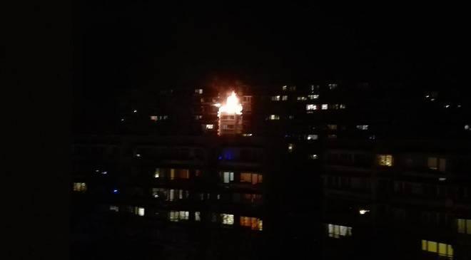 Під час пожежі у багатоповерховому будинку в центрі Вроцлава загинула одна особа