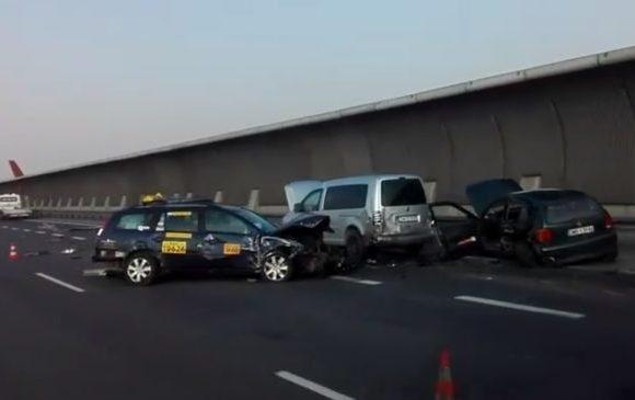 На окружной Вроцлава серьезное ДТП:  столкнулись 7 машин
