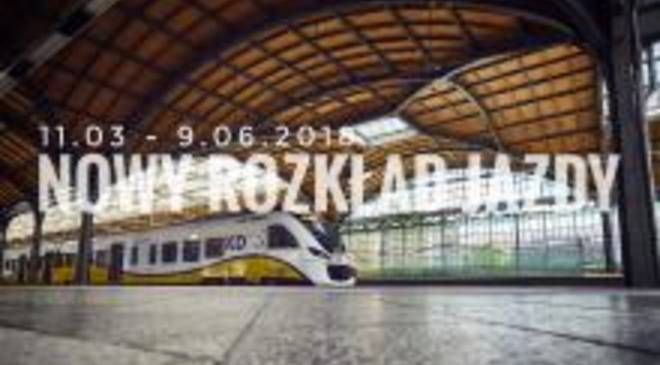 Залізниця Нижньої Сілезії повідомляє про зміни в розкладі руху потягів