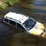 У Вроцлаві водій таксі на авто заїхав у водойму