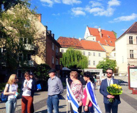 Во Вроцлаве прошёл марш в честь 70-летия восстания государства Израиль [ФОТОРЕПОРТАЖ]