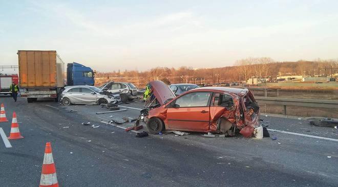 Серія ДТП на автостраді А4 біля Вроцлава