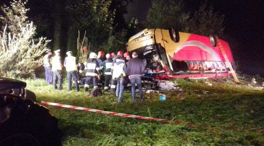 У крові водія українського автобуса, що розбився біля Перемишля, виявили психотропні речовини