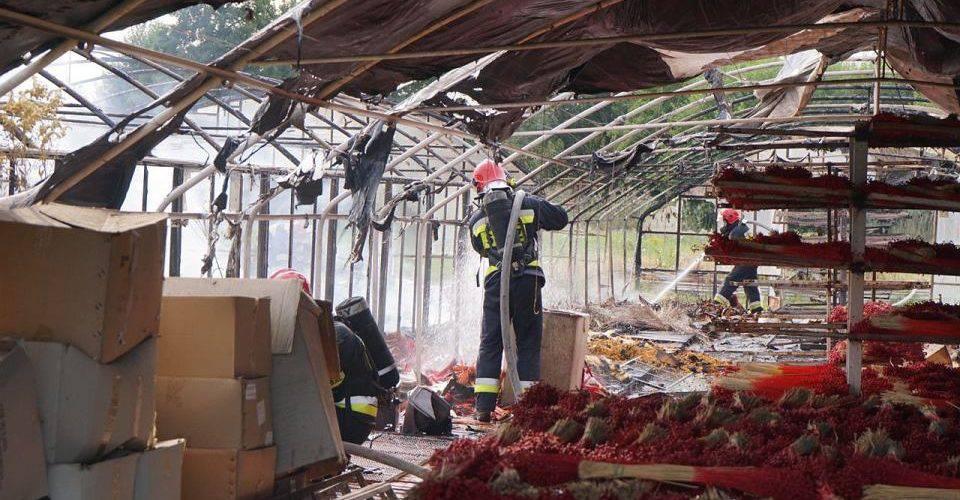 Велика пожежа на околицях Вроцлава