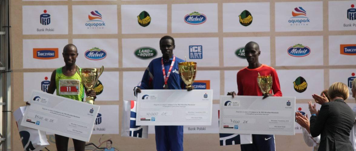 «Кенийское трио» одержало победу на вроцлавском марафоне