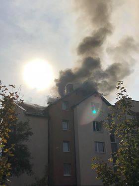 Пожежа в багатоповерхівці у Вроцлаві [Відео + Фото]