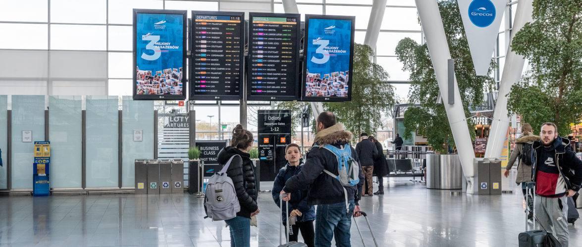 Вроцлавський аеропорт: на рахунку вже більше трьох мільйонів пасажирів