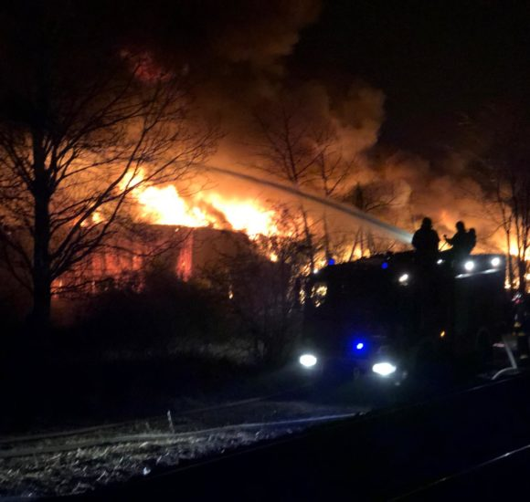 Во Вроцлаве гигантский пожар: горит склад (+ФОТО, +ВИДЕО)