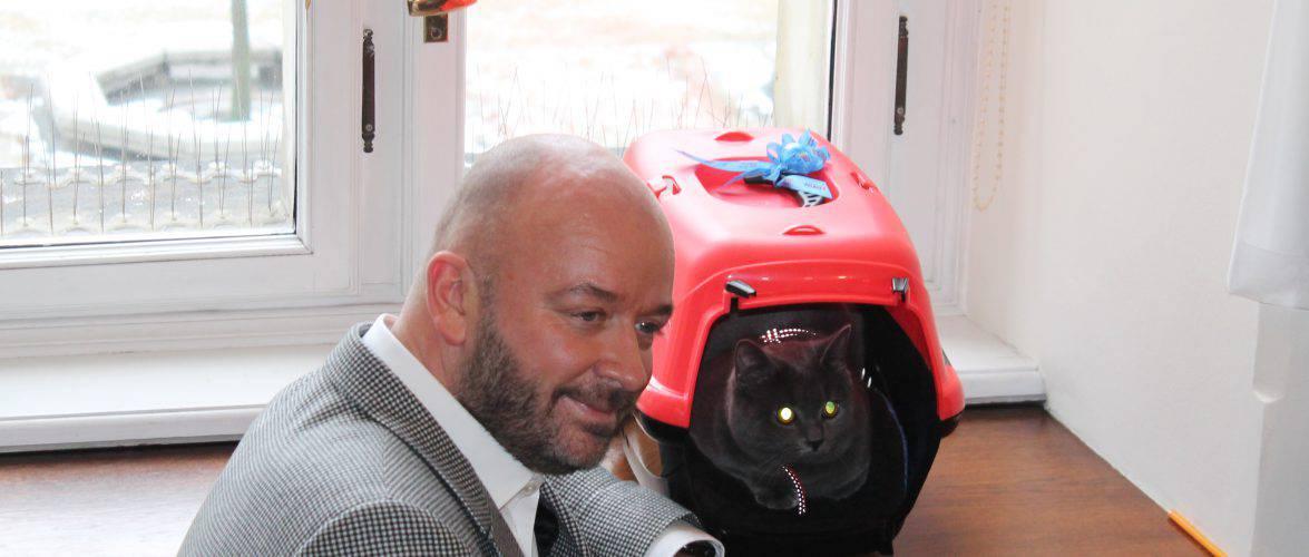 Президент Вроцлава «прописал» своего кота у себя в кабинете