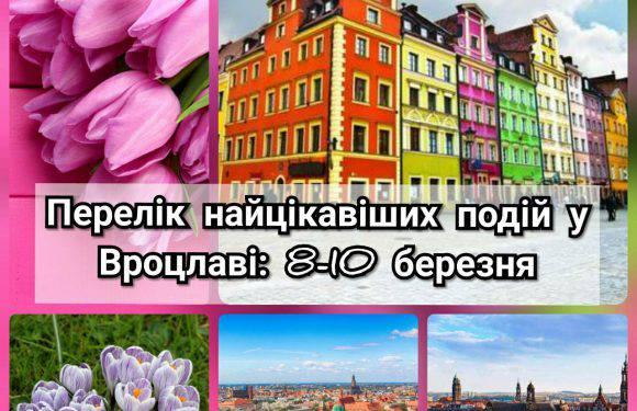 Перелік найцікавіших подій у Вроцлаві: 8-10 березня