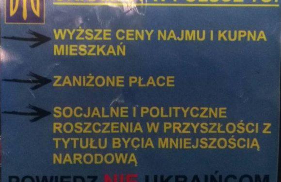 У Вроцлаві з'явилися небезпечні антиукраїнські листівки. Можна отримати  поранення! [ФОТО]