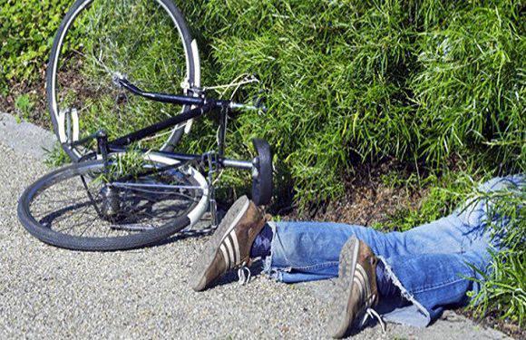 У Вроцлаві п'яний велосипедист протаранив шлагбаум (+ВІДЕО)