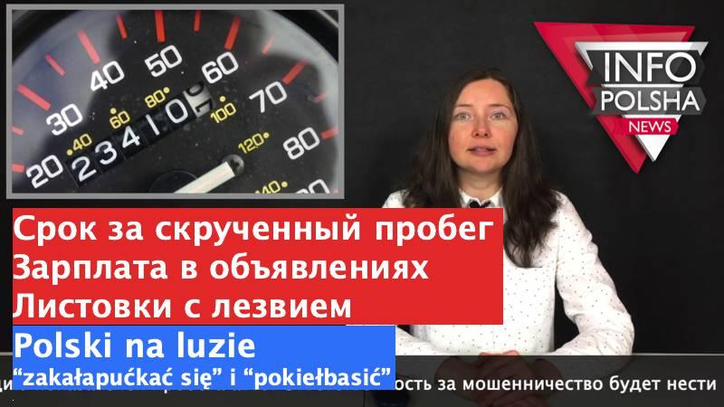 Новости о Польше: выпуск новостей №32 от «ИнфоПольша» (+ВИДЕО)