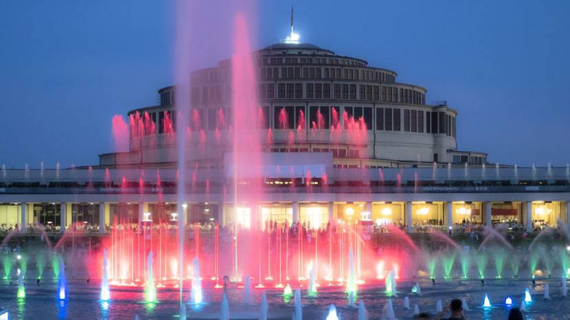 Відкриття сезону роботи фонтанів у Вроцлаві