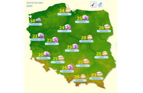 З  понеділка  на Польщу чекає.. піщана буря і 28 градусів С