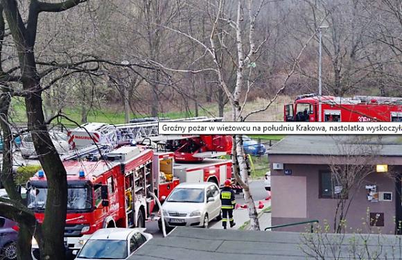 У Кракові через пожежу дівчина викинулася з вікна 6-го поверху [+ ФОТО]
