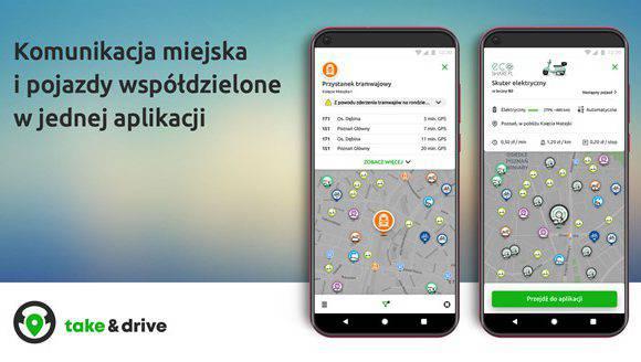 У Вроцлаві запустили додаток Take&drive, що з'єднує весь транспорт міста