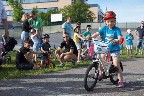 Велосипедні гонки для дітей під час VII пікніка на Велодромі