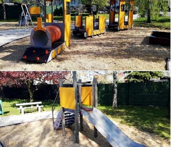 У Вроцлаві відновили дитячий майданчик