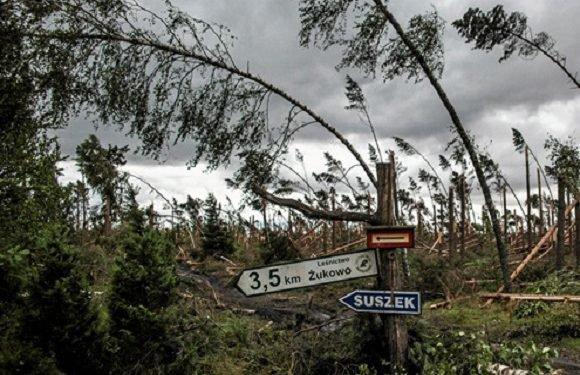 Польщею пронісся руйнівний ураган