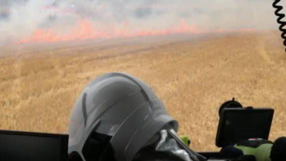 Пожежа біля Вроцлава. Загорілася стерня