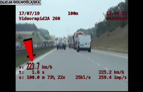 224 км / год – швидкість, яку зафіксувала  спецгрупа «Speed»