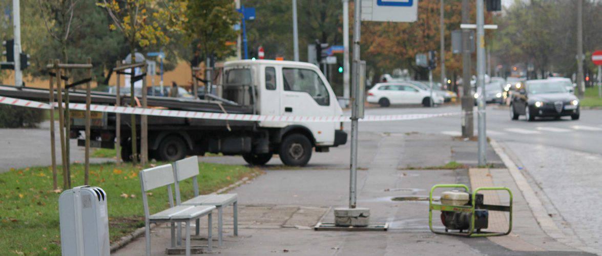 Затримали водія, який протаранив зупинку у Вроцлаві. Він дуже п'яний