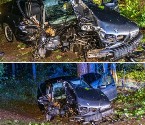 Українець в Польщі вщент розбив авто і втік, а потім сам прийшов до комісаріату [+ВІДЕО]