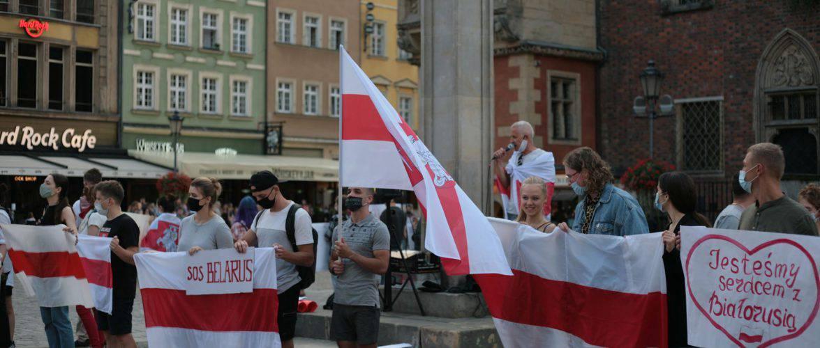 У Польщі білоруси знову вийшли на протест (ФОТО, ВІДЕО)