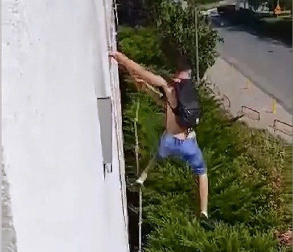 Двоє українців в Польщі порушили умови карантину: лазили по шнурку до квартири, щоб відвідати колег [+ВІДЕО]