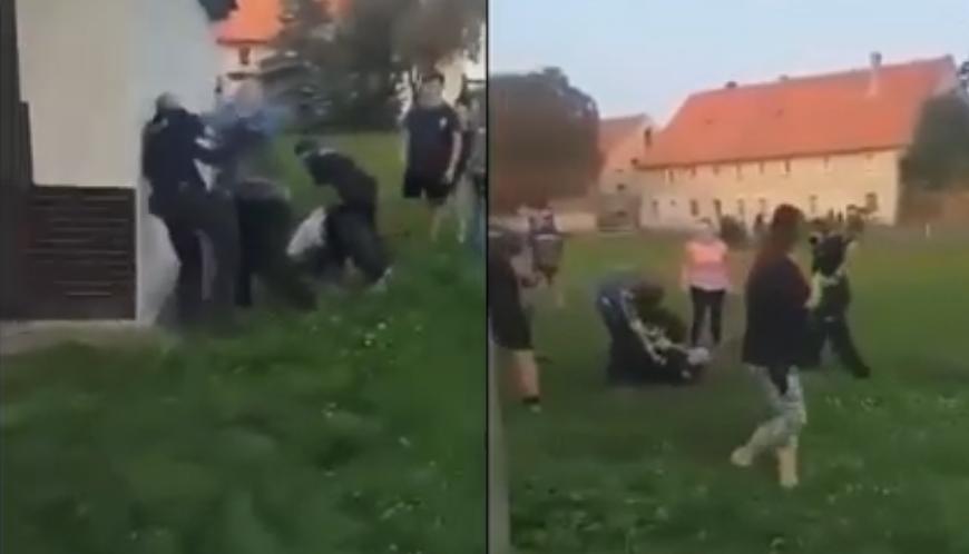 У Польщі двоє чоловіків побили поліцейських [+ВІДЕО]