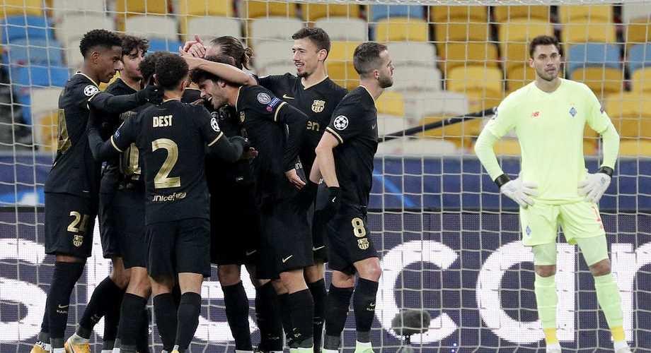 Киевское «Динамо» разгромно уступило «Барселоне» в Лиге чемпионов