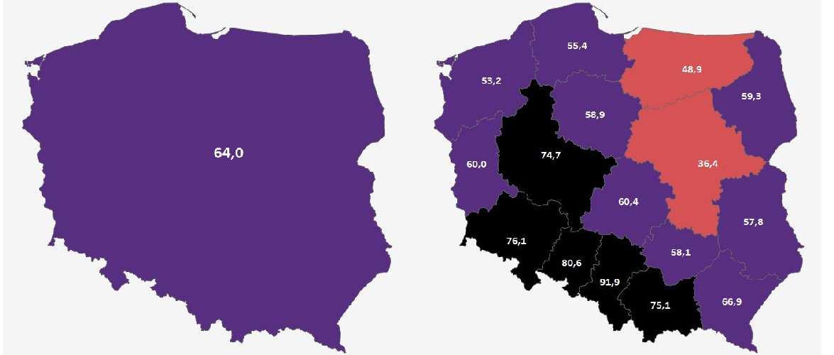 У п'яти воєводствах Польщі можна водити «Національний карантин»