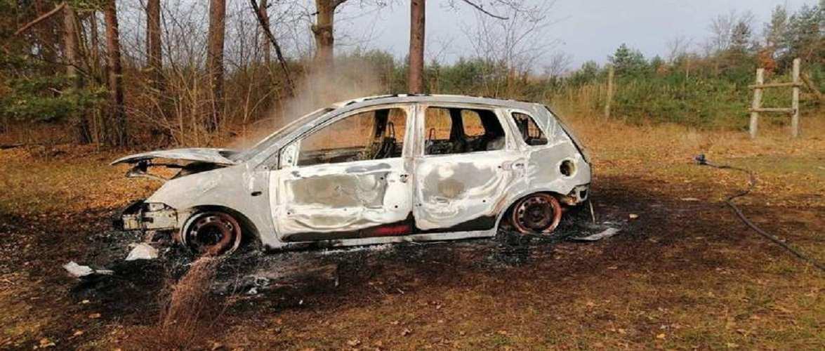 У Польщі згоріло авто: всередині знайшли кістки та дві лопати [+ФОТО]