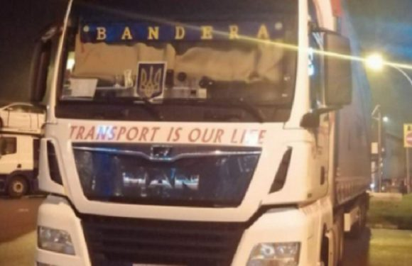 «Бандера» на польській вантажівці у Італії