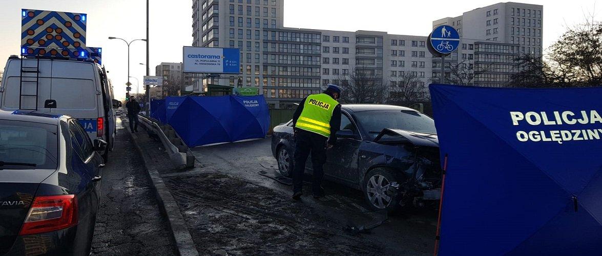Страшна аварія у Варшаві: авто влетіло в пішоходів, одна людина загинула