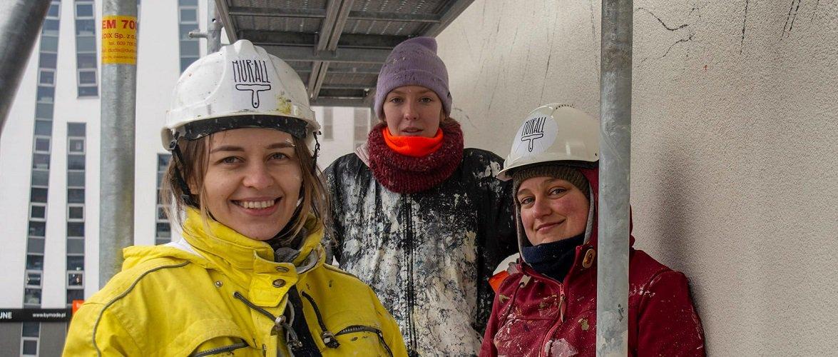 У Вроцлаві почали малювати мурал на підтримку білорусів [+ФОТО]
