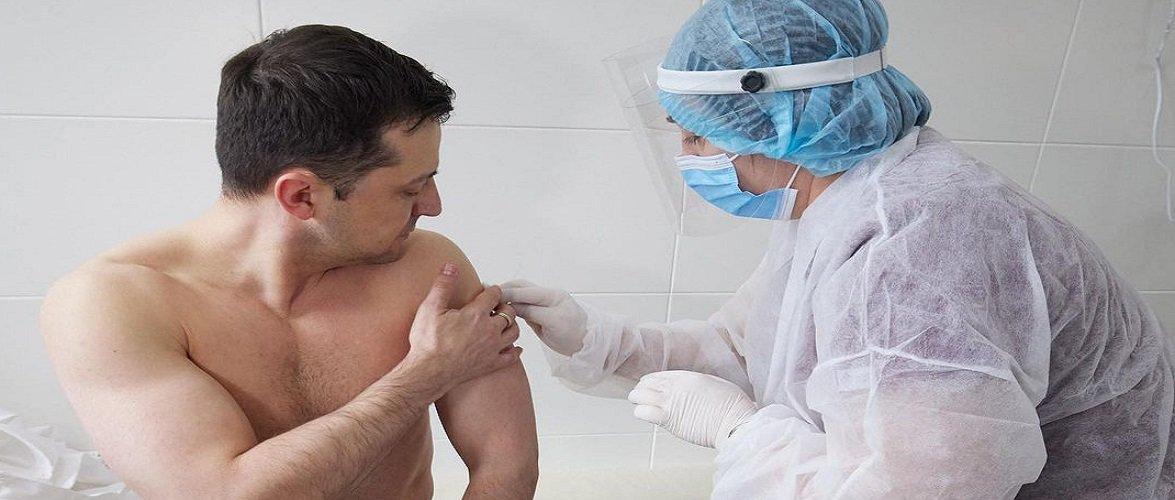 Президент України вже вакцинувався від коронавірусу [+ФОТО, ВІДЕО]