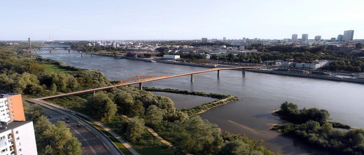 У Варшаві збудують один з найбільших мостів у світі для пішоходів та велосипедистів [+ФОТО]